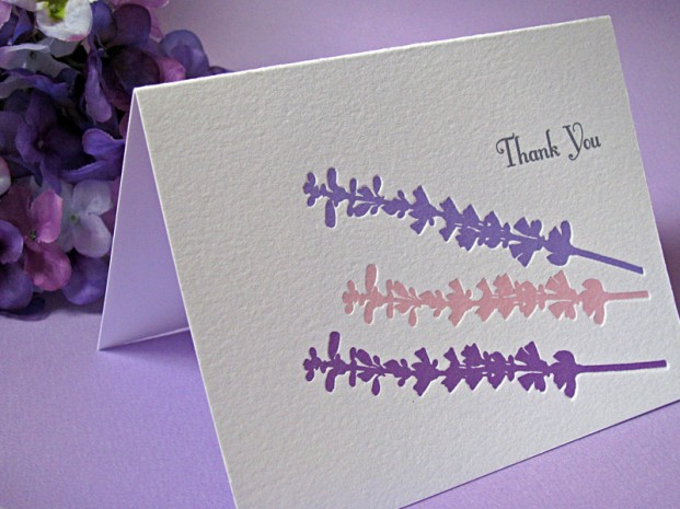 Lavender Flowers Thank You Cards Digby Amp Rose Digby