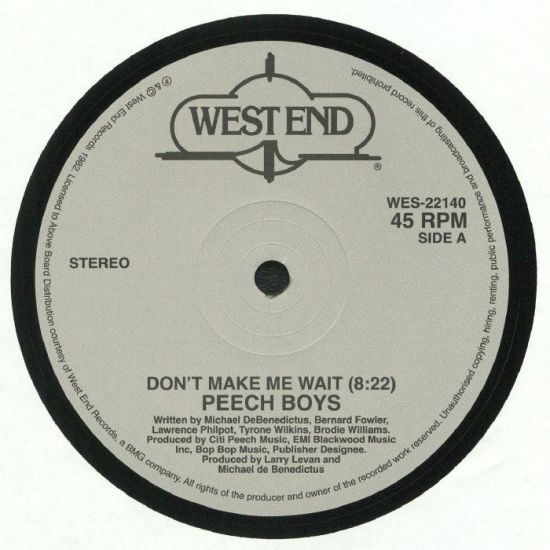Peech Boys - Don't make Me Wait