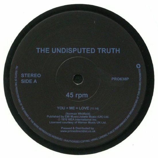 The Undisputed Truth - You + Me = Love