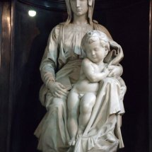Madonna close up - Inside Church of Our Lady