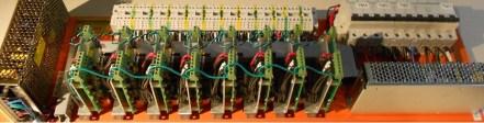 Bandeja de control de canales vibradores de Balanza Multicabezal
