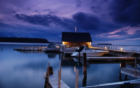 Moored for the Night by James Jordan