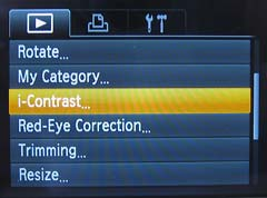 In-camera editing functions