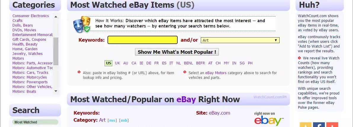 watchcount ebay products search
