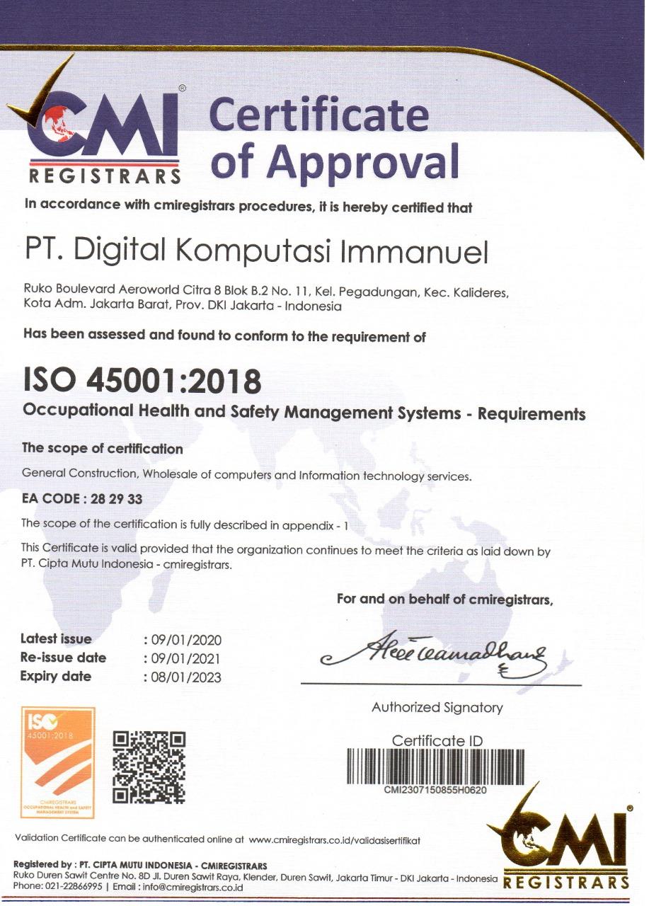 DIGIGUARD ISO 450001:2018