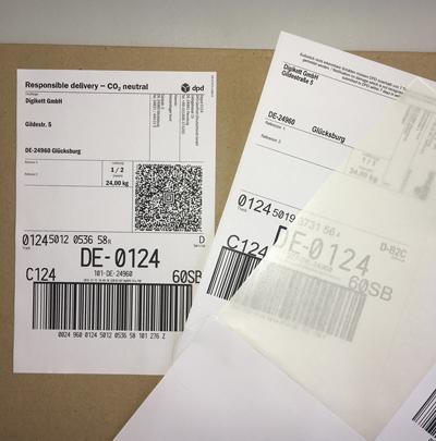 Integrierte Paketaufkleber Passend Fur Dpd Dhl Hermes Schenker Etc Digikett Gmbh