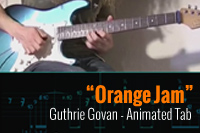 Guthrie Govan – Orange Jam Lesson – Tablatura Animada