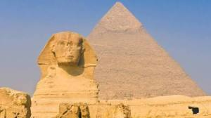 image of Sphinx and great pyramid of Egypt