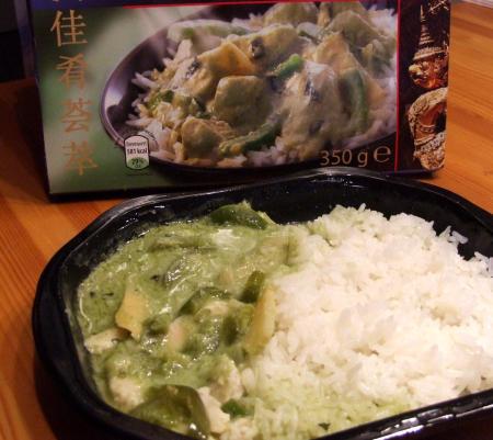 Chicken Green Curry vom Aldi