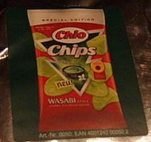 Verpackung der neuen Chio Chips Wasabi