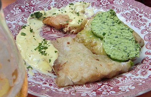 """Gaststätte """"Zur Post"""", Idstein-Oberrod, der gemischte Fischteller"""