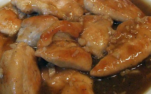 Hühnerbrueste in Sherry-Sosse