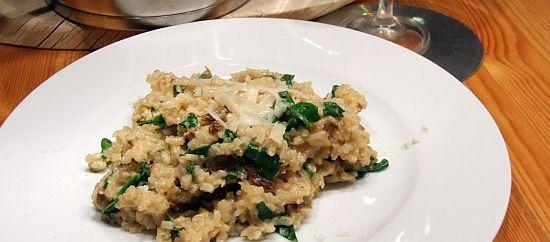 Für Faule: Steinpilz-Rucola-Risotto aus dem Ofen