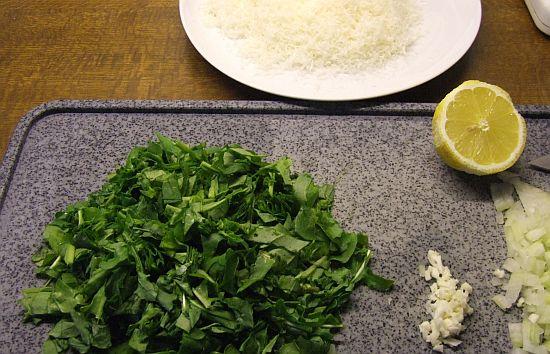 Foto: Zutaten für Rucola-Käse-Soße