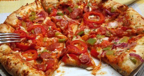 Foto: Pizza Salami-Jalapeno von Dr. Oetker