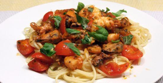 Foto: Spaghetti Frutti di Mare mit Weißweinsoße