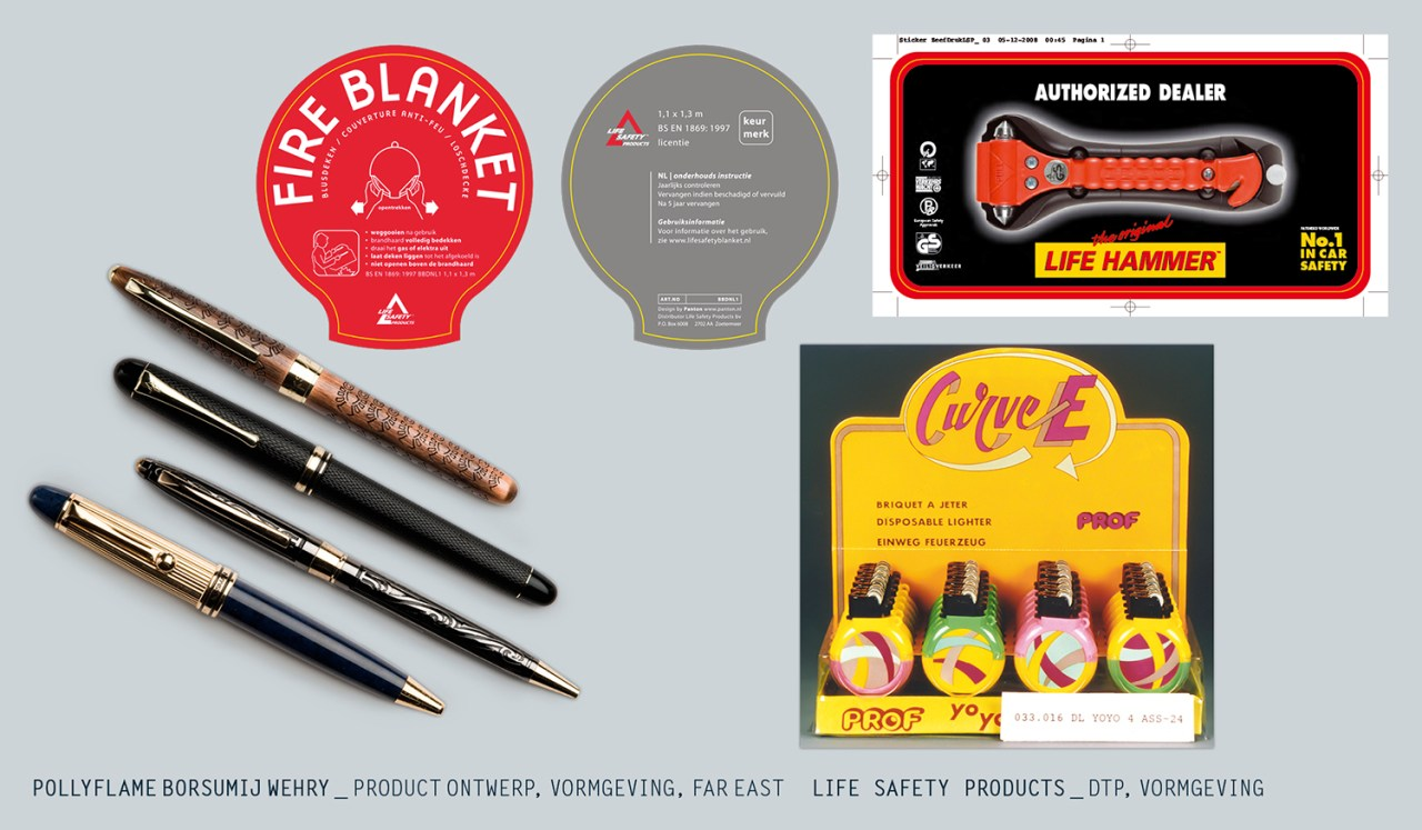pollyflame borsumij wehrey _ product ontwerp, vormgeving, far east  life safety products _ dtp, vormgeving