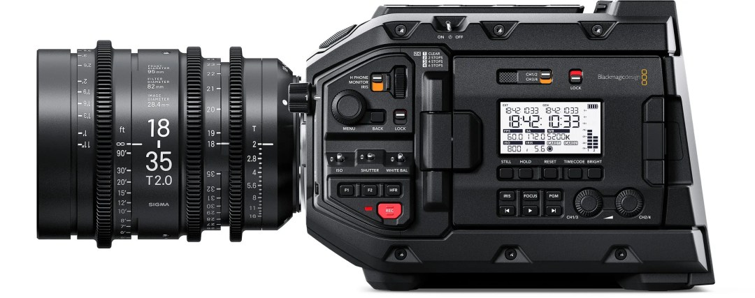 URSA Mini Pro 4.6K Camera Controls