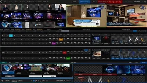 Newtek Tricaster Advanced Edition Interface