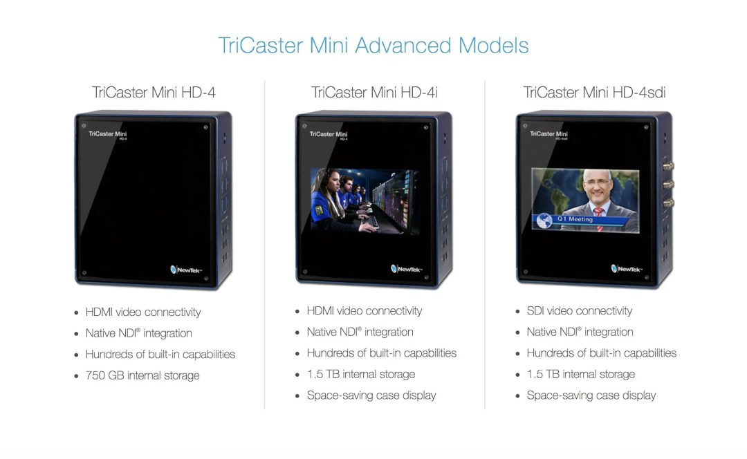 Newtek Tricaster Mini Series