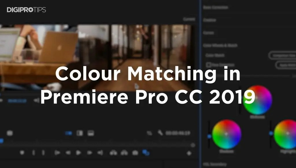 Colour Matching In Premiere Pro CC 2019