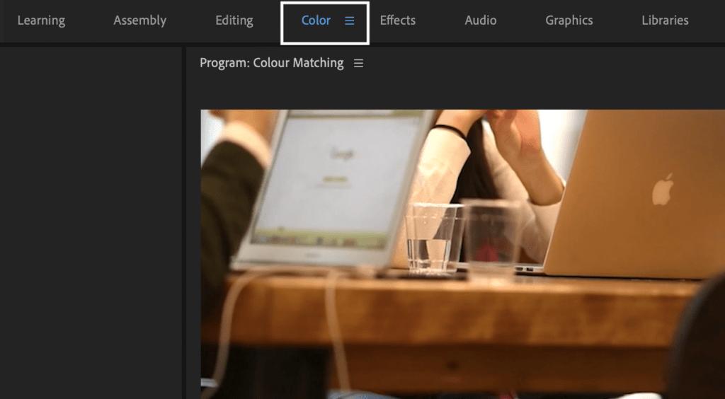 Colour Workspace Premiere Pro