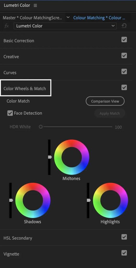 Lumetri Colour Panel Premiere Pro