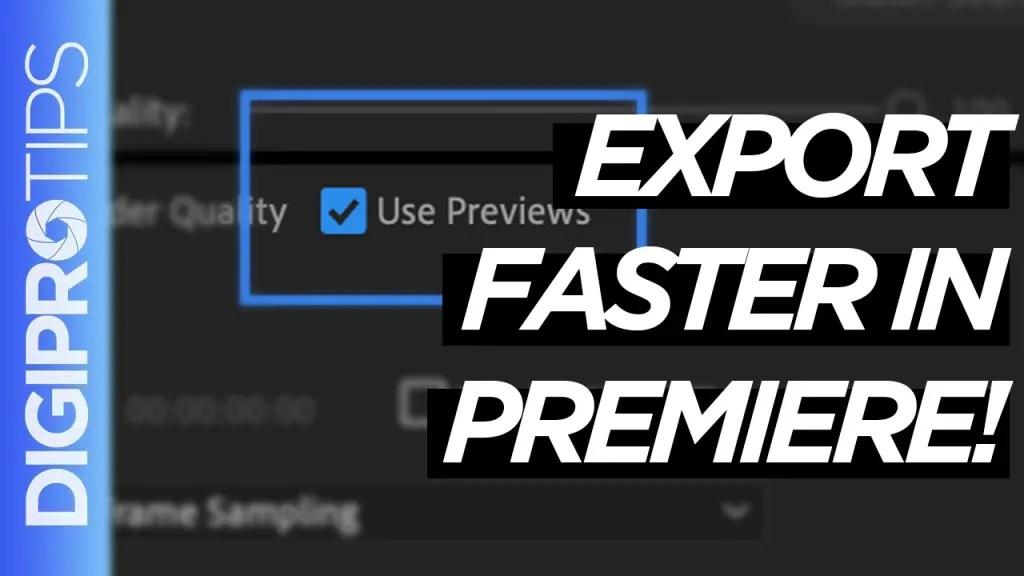 Render in Premiere Pro