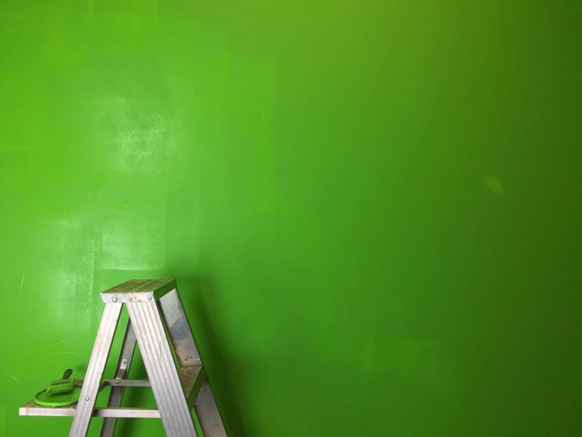 Greenscreen painted wall