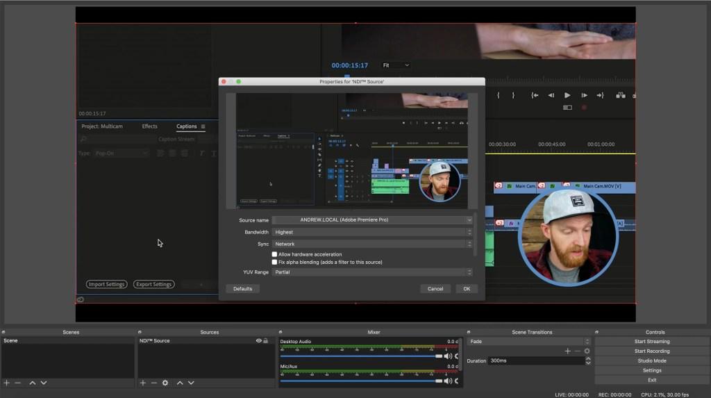 NDI for Adobe CC