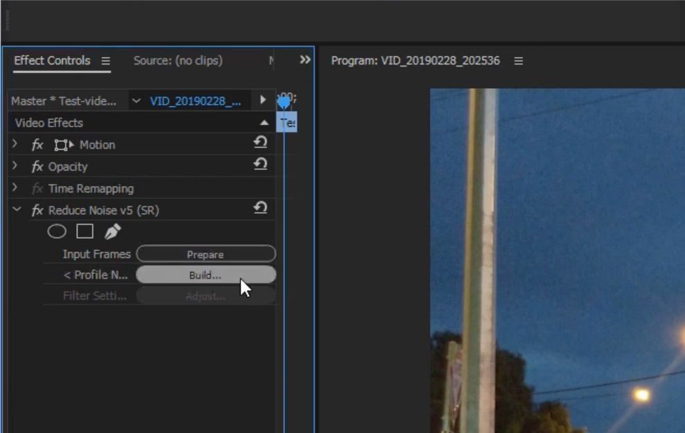 Neat Video - removing background noise from video