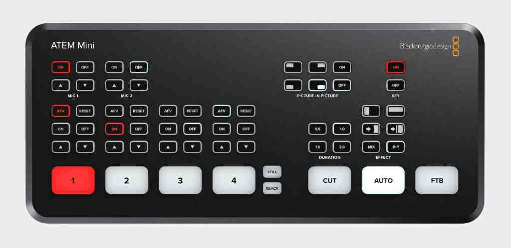 Example ATEM Mini HDMI Sources - video production switcher