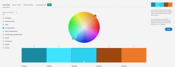 Complementary Color Harmony Rule Adobe Color