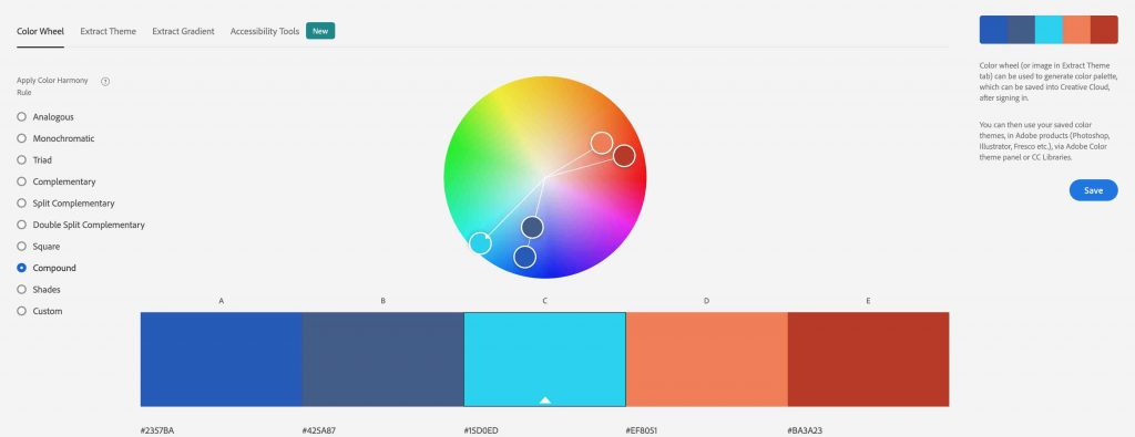 Compound Color Harmony Rule Adobe Color
