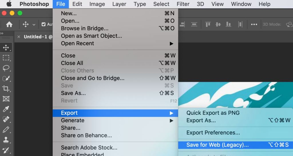 Photoshop Save for Web - After Effects Export GIF