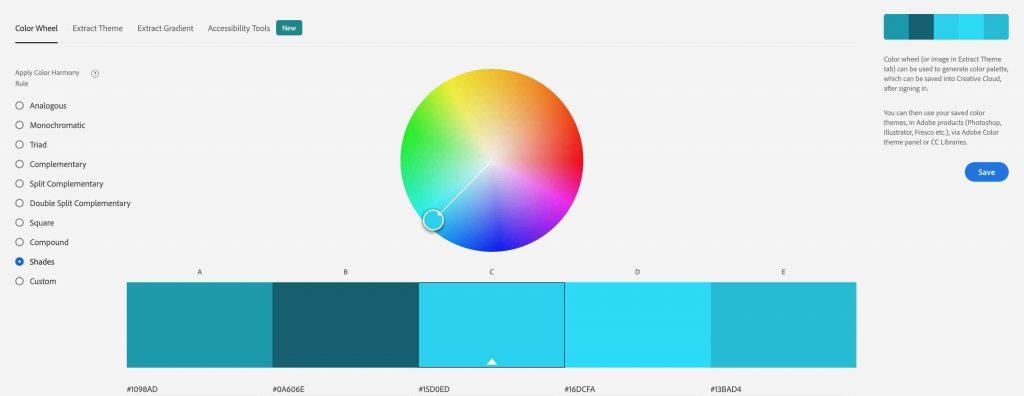 Shades Color Harmony Rule Adobe Color