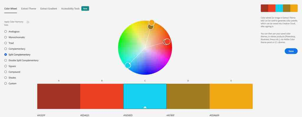 Split Complementary Color Harmony Rule Adobe Color