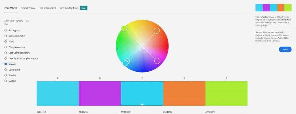 Square Color Harmony Rule Adobe Color