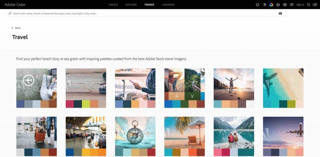 Trends Adobe Color Wesbite