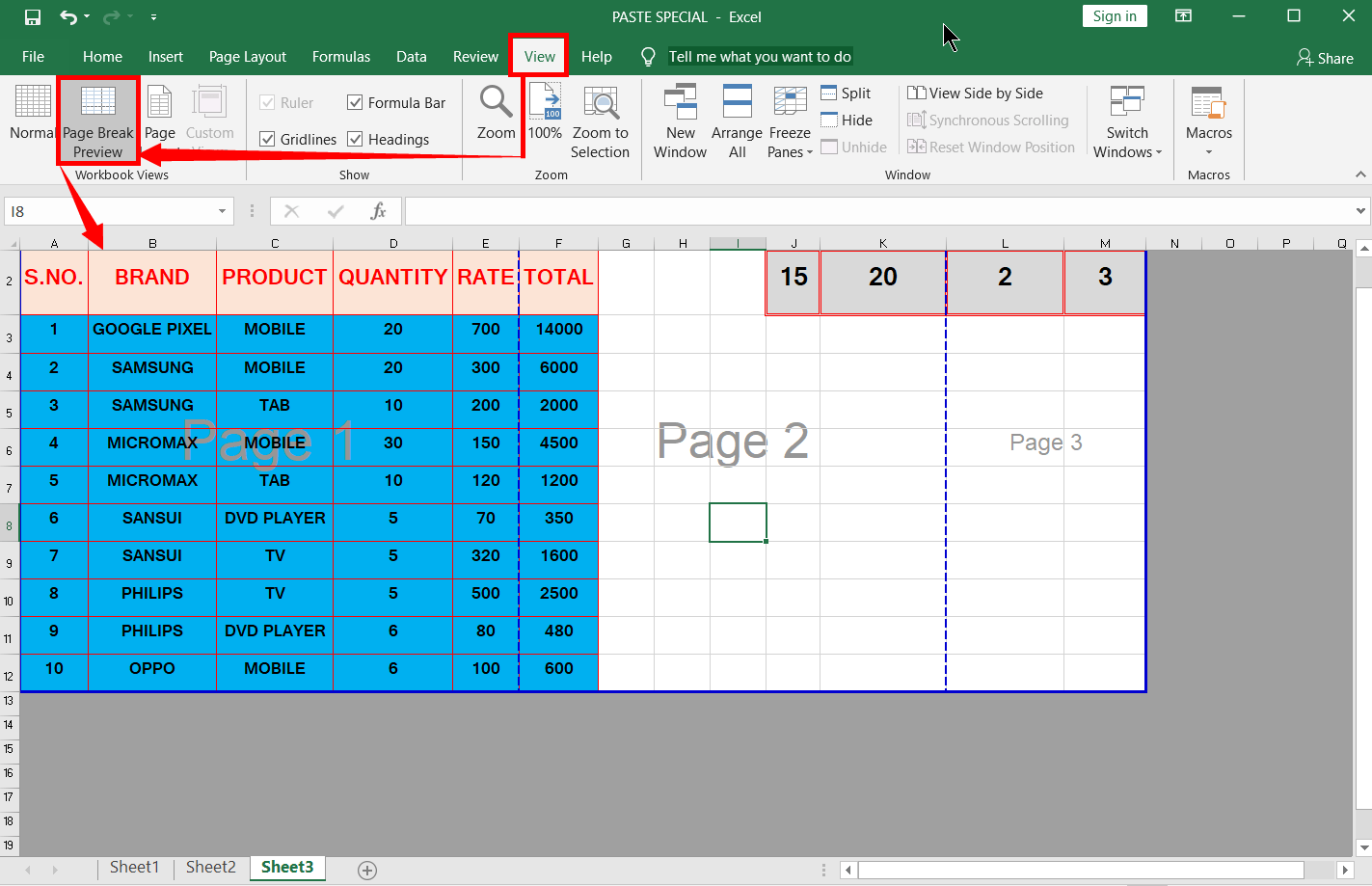What Is Page Break Preview In Excel