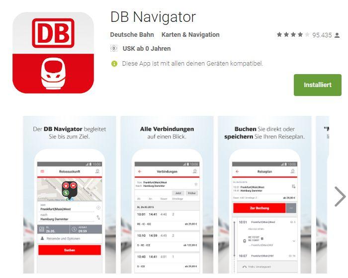 Lieblings-App: DB Navigator – alles für den Zug