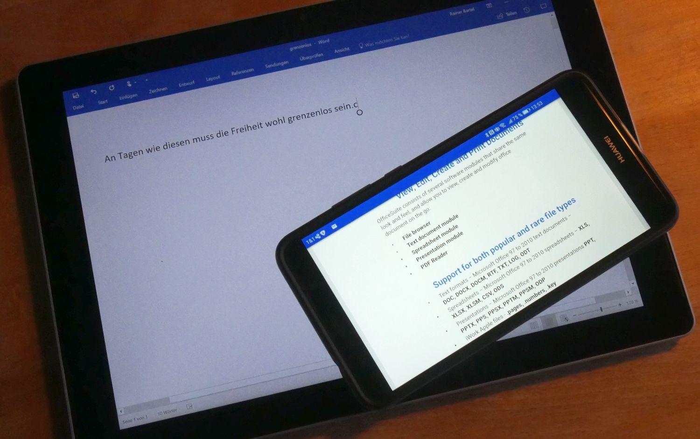 Was zur Hölle… Großes Smartphone oder Tablet als Arbeitsgerät?
