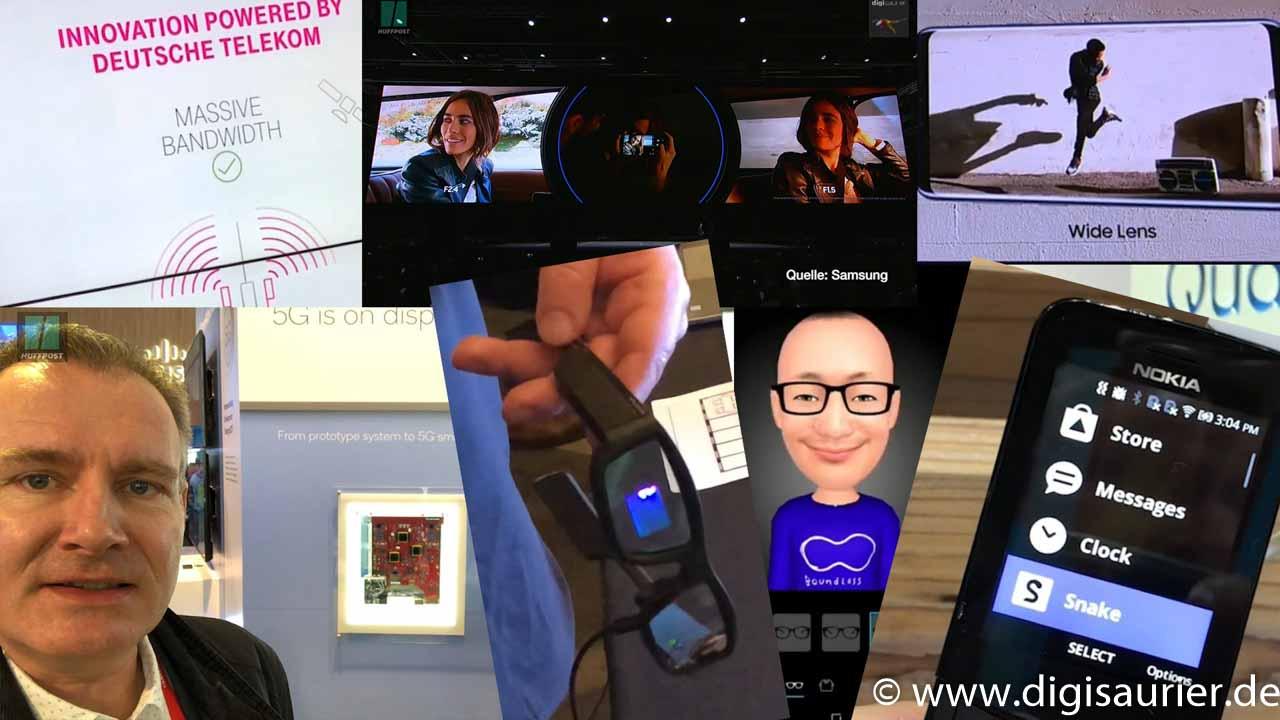 Neue Smartphones, alte Handys, Drohnen, Brillen und 5G … ein Rückblick auf den MWC 2018