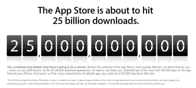 App Store 25 Billion App downloads