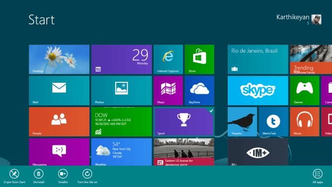 Turn On Enable Live Tile Windows 8