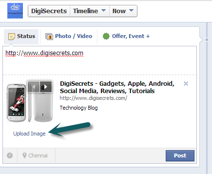 Facebook Page Admin - Uplaod Images - Post Links