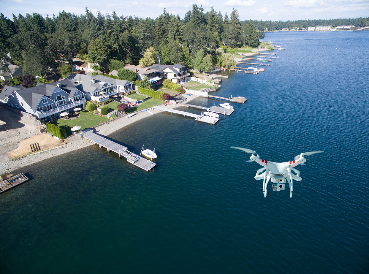 Aerial View With Drone