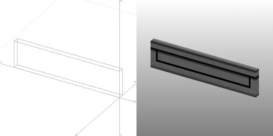 フリー素材 formZ 3D エクステリア post 壁埋め込み型のポスト 郵便受け