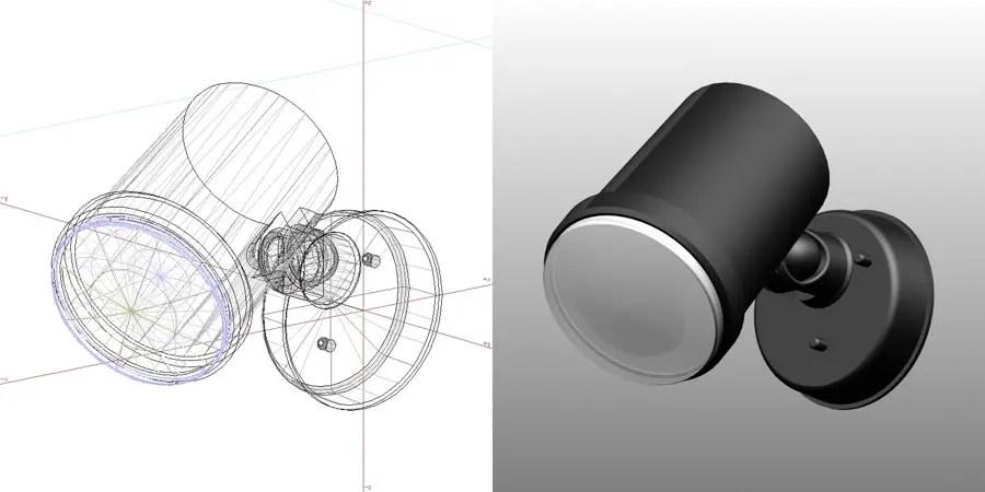 formZ 3D エクステリア 照明器具 スポットライト エクステリアライト ガーデンライト 黒色 フリー素材