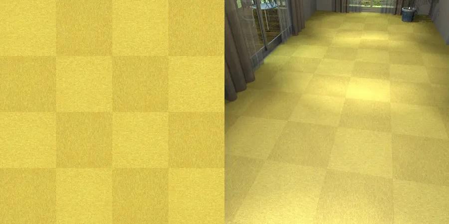 フリーデータ,2D,テクスチャー,texture,JPEG,タイルカーペット,tile,carpet,黄,yellow,市松貼り